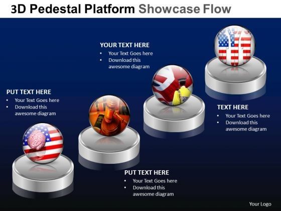 PowerPoint Design Slides Company Pedestal Platform Showcase Ppt Design