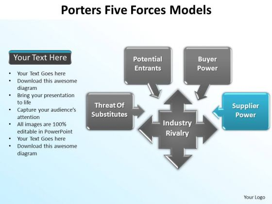 PowerPoint Design Slides Company Porters Forces Ppt Slide