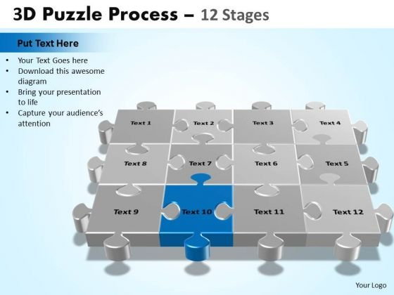 PowerPoint Design Slides Company Puzzle Process Ppt Presentation