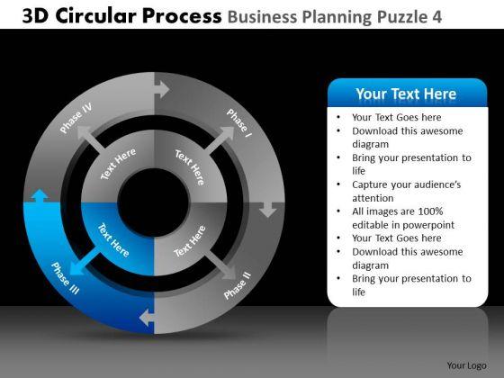 PowerPoint Design Slides Company Success 3d Circular Chart Process Business Ppt Slide