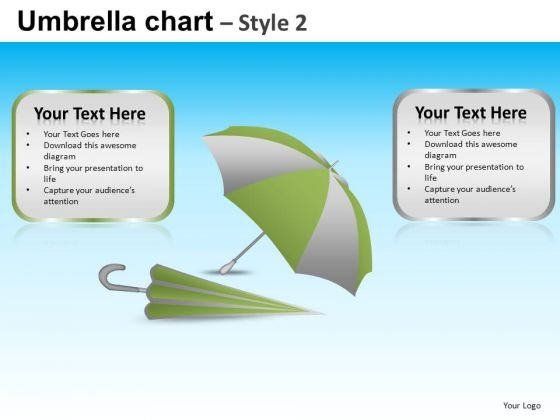 PowerPoint Design Slides Corporate Teamwork Vision Umbrella Chart Ppt Slide