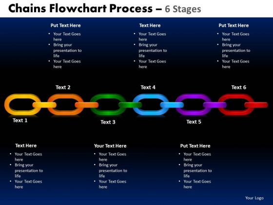PowerPoint Design Slides Cycle Chart Chains Flowchart Ppt Slide