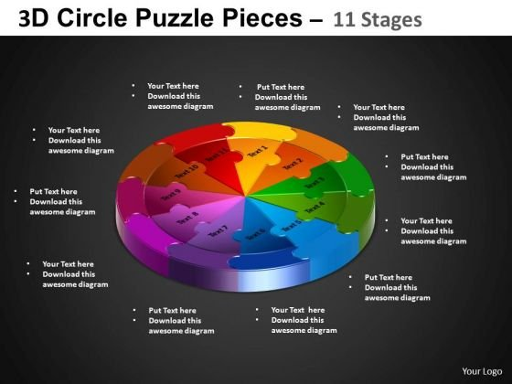 PowerPoint Design Slides Cycle Chart Circle Puzzle Diagram Ppt Backgrounds