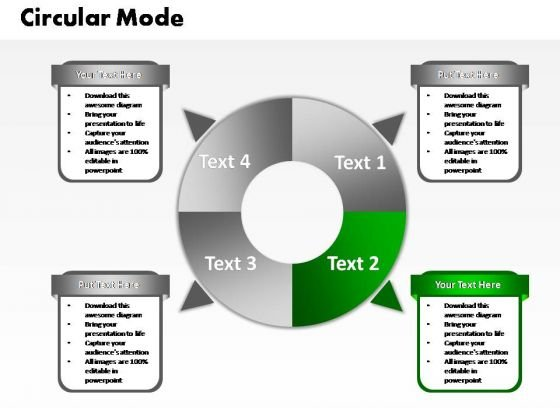 PowerPoint Design Slides Diagram Four Circular Ppt Slide
