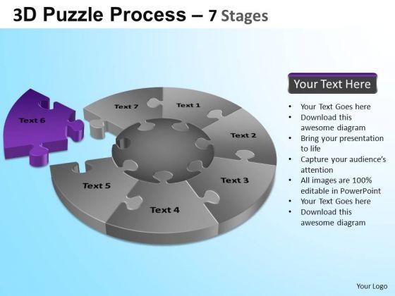 PowerPoint Design Slides Diagram Jigsaw Pie Chart Ppt Theme