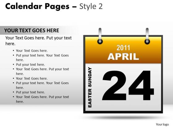PowerPoint Design Slides Download Calendar 24 April Ppt Layouts
