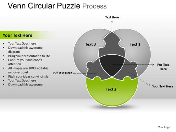 PowerPoint Design Slides Download Circular Puzzle Ppt Slide