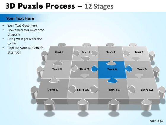 PowerPoint Design Slides Download Puzzle Process Ppt Presentation
