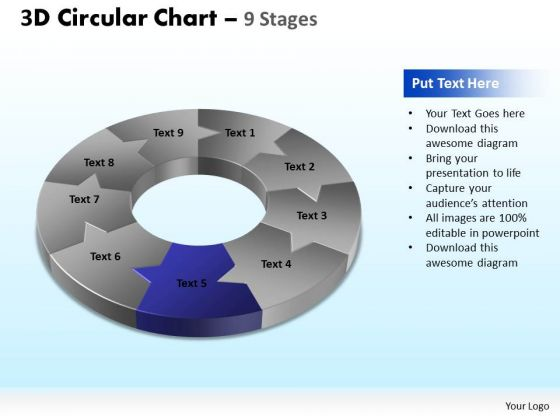 PowerPoint Design Slides Editable Circular Chart Ppt Backgrounds