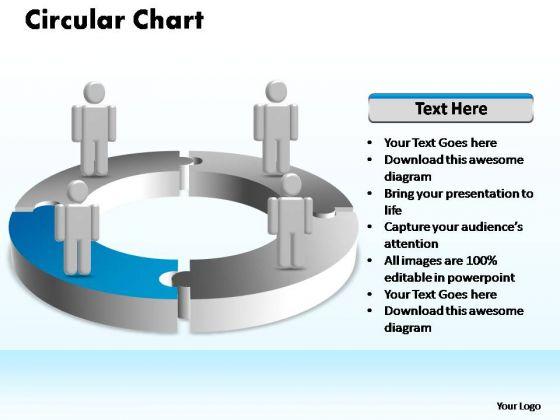 PowerPoint Design Slides Editable Circular Ppt Template