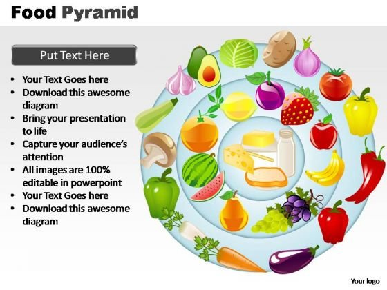 PowerPoint Design Slides Editable Food Pyramid Ppt Themes