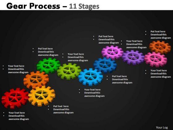 PowerPoint Design Slides Editable Gears Process Ppt Design Slides
