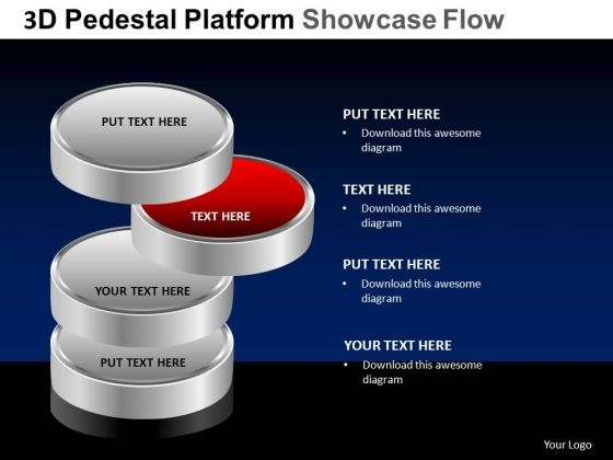 PowerPoint Design Slides Editable Pedestal Platform Showcase Ppt Themes