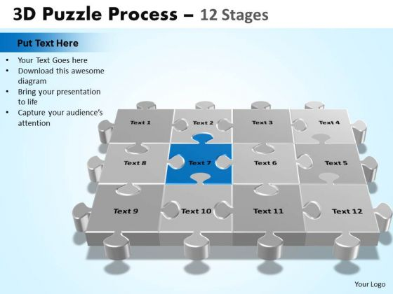 PowerPoint Design Slides Editable Puzzle Process Ppt Template
