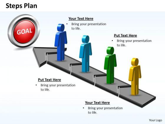 PowerPoint Design Slides Editable Steps Plan 4 Stages Style 5 Ppt Slide