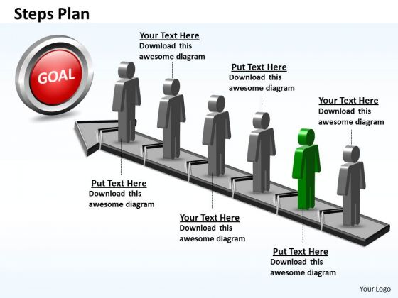 PowerPoint Design Slides Editable Steps Plan 6 Stages Style 5 Ppt Slide