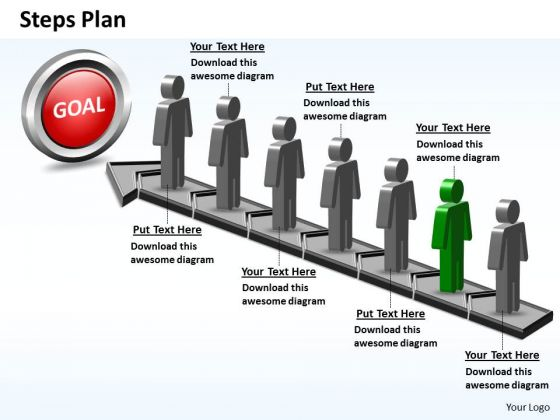 PowerPoint Design Slides Editable Steps Plan 7 Stages Style 5 Ppt Slide