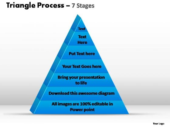 PowerPoint Design Slides Editable Triangle Process Ppt Slides