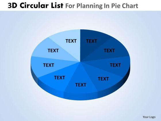 PowerPoint Design Slides Executive Competition 3d Pie Chart List Ppt Slide Designs