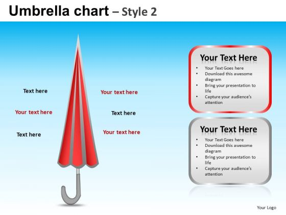 PowerPoint Design Slides Executive Strategy Targets Umbrella Chart Ppt Templates