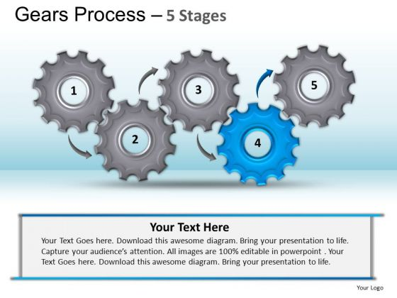 PowerPoint Design Slides Gears Process Ppt Template