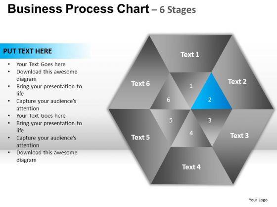PowerPoint Design Slides Global Hexagon Pie Chart Ppt Template