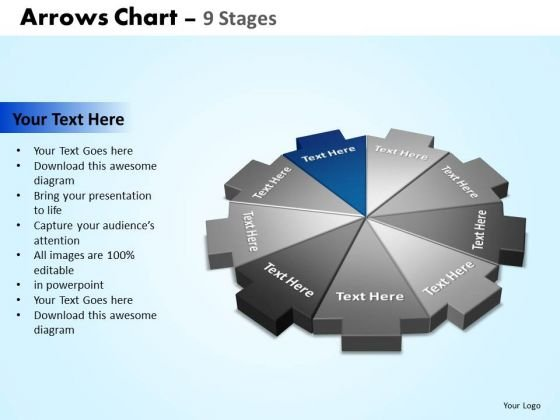 PowerPoint Design Slides Graphic Arrows Chart Ppt Design