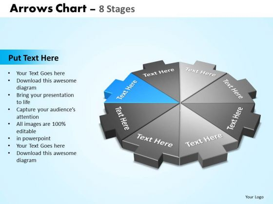 PowerPoint Design Slides Graphic Arrows Chart Ppt Presentation