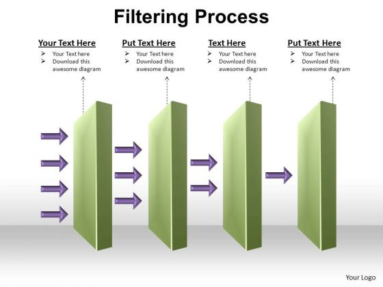 PowerPoint Design Slides Graphic Filtering Process Ppt Design