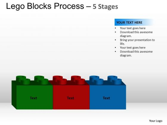 PowerPoint Design Slides Graphic Lego Blocks Ppt Slide