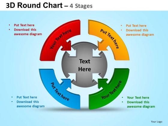 powerpoint design slides graphic round process flow chart ppt slide