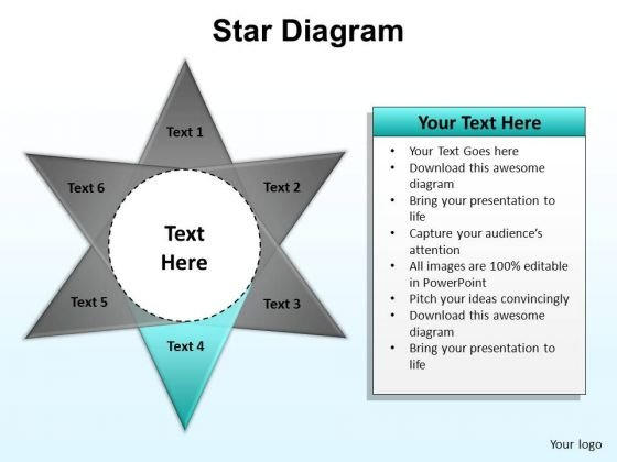 PowerPoint Design Slides Graphic Star Diagram Ppt Design