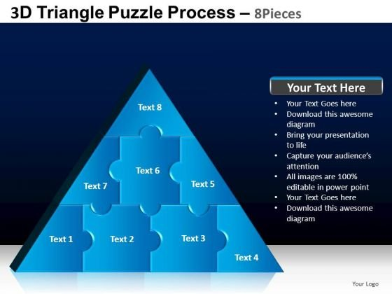 PowerPoint Design Slides Graphic Triangle Puzzle Ppt Layouts