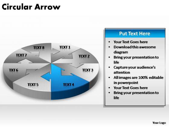 PowerPoint Design Slides Growth Circular Arrow Ppt Themes