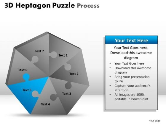 PowerPoint Design Slides Growth Heptagon Puzzle Ppt Process