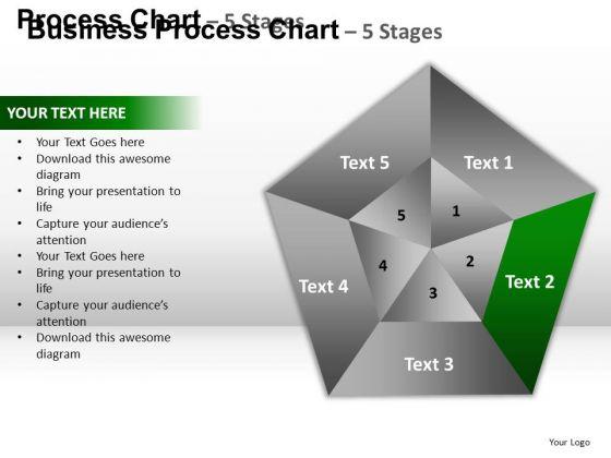 PowerPoint Design Slides Growth Pentagon Pie Chart Ppt Presentation