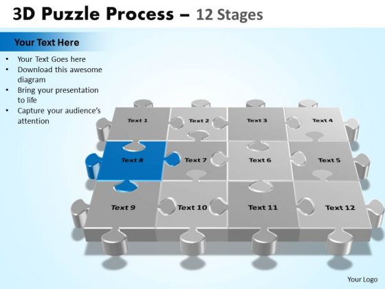 PowerPoint Design Slides Growth Puzzle Process Ppt Designs