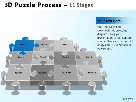 PowerPoint Design Slides Image Puzzle Process Ppt Template