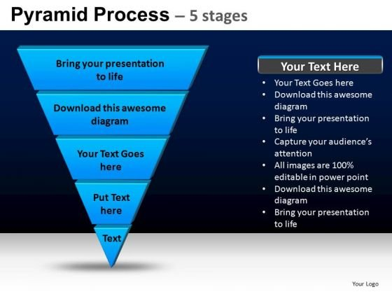PowerPoint Design Slides Image Pyramid Process Ppt Template