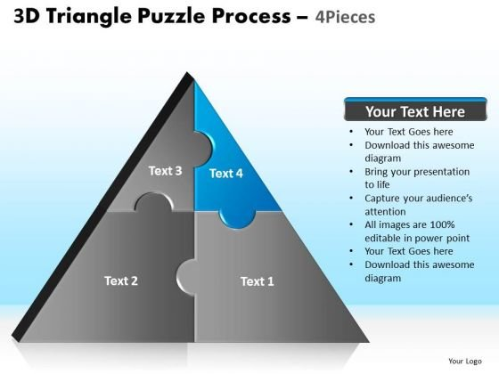 PowerPoint Design Slides Image Triangle Puzzle Ppt Design