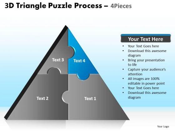PowerPoint Design Slides Image Triangle Puzzle Ppt Design