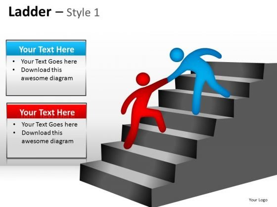 PowerPoint Design Slides Ladder Teamwork Ppt Design Slides