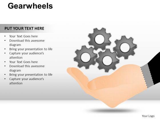 PowerPoint Design Slides Leadership Gear Wheel Ppt Slides