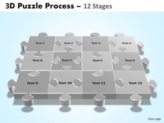 PowerPoint Design Slides Leadership Puzzle Process Ppt Designs