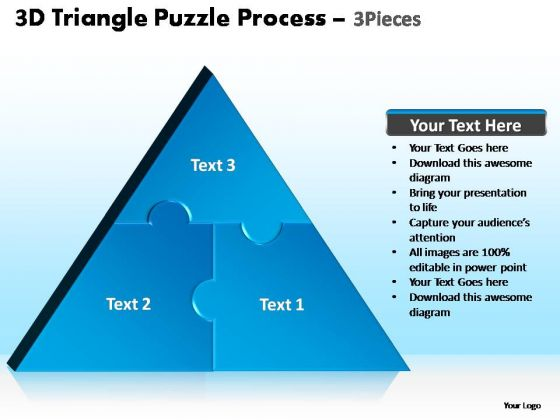 PowerPoint Design Slides Leadership Triangle Puzzle Ppt Template