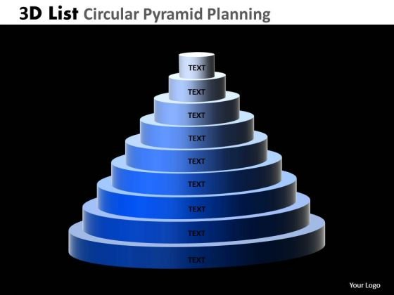 PowerPoint Design Slides List Circular Pyramid Teamwork Ppt Slides