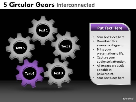 PowerPoint Design Slides Marketing Circular Gears Ppt Process