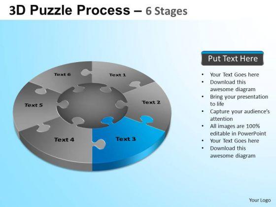 PowerPoint Design Slides Marketing Jigsaw Pie Chart Ppt Design