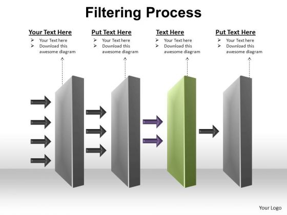 PowerPoint Design Slides Process Filtering Process Ppt Presentation
