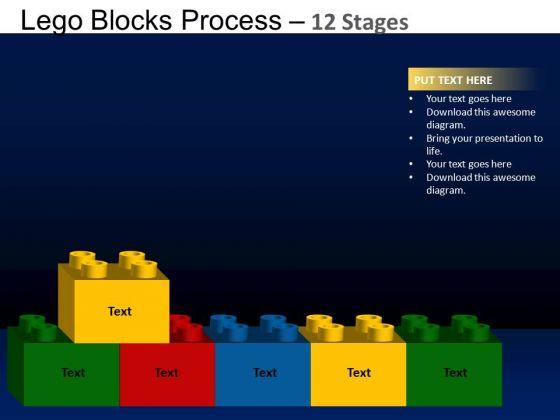 PowerPoint Design Slides Process Lego Blocks Ppt Slide